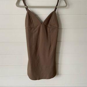 Taupe Bodycon Spaghetti Strap Dress size M